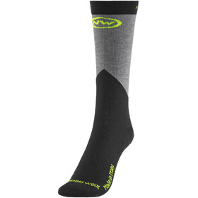 Northwave Extreme Pro High Socks Men yellow fluo/black